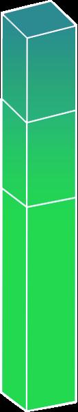 Istogramma verde che indica l'abbattimento del cuneo fiscale - Welfare aziendale